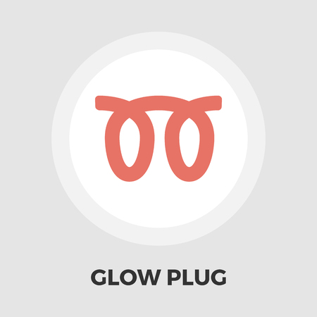 malfunction: Glow plug icon vector. Flat icon isolated on the white background. Editable EPS file. Vector illustration. Illustration
