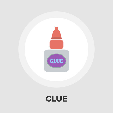 office products: Glue icon vector. Flat icon isolated on the white background. Editable EPS file. Vector illustration.
