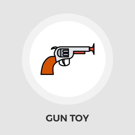 futuristic pistol: Gun Toy Icon Vector. Flat icon isolated on the white background. Editable EPS file. Vector illustration. Illustration