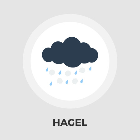 hailstorm: Hagel icon vector. Flat icon isolated on the white background. Editable EPS file. Vector illustration. Illustration