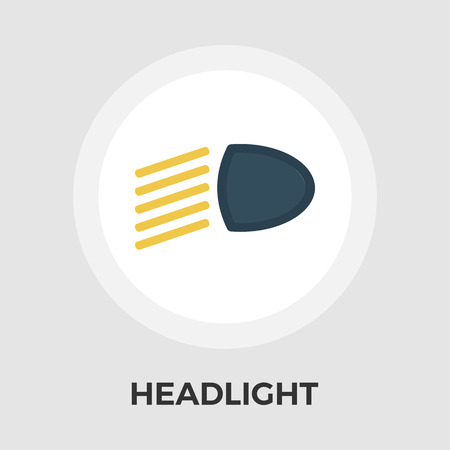 lighting button: Headlight icon vector. Flat icon isolated on the white background. Editable EPS file. Vector illustration.