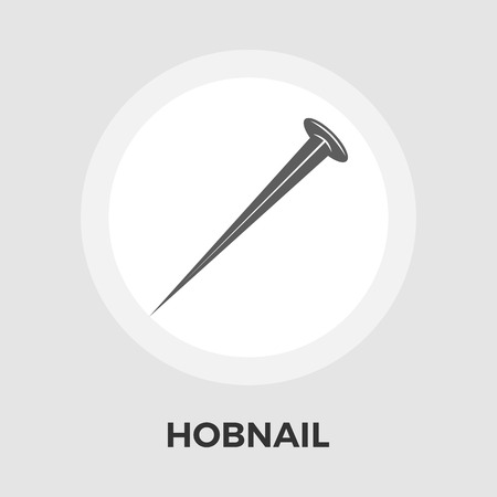 hobnail: Hobnail icon vector. Flat icon isolated on the white background. Editable EPS file. Vector illustration.
