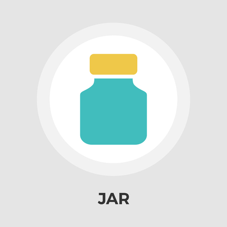 preserved: Jar icon vector. Flat icon isolated on the white background. Editable EPS file. Vector illustration.
