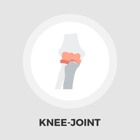 geriatrics: Knee-joint icon vector. Flat icon isolated on the white background. Editable EPS file. Vector illustration. Illustration