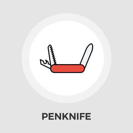 temperino: Coltello vettore icona. Icona piatto isolato su sfondo bianco. file EPS modificabile. Illustrazione vettoriale. Vettoriali
