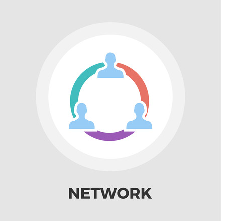 social gathering: Network icon vector. Flat icon isolated on the white background. Editable EPS file. Vector illustration.