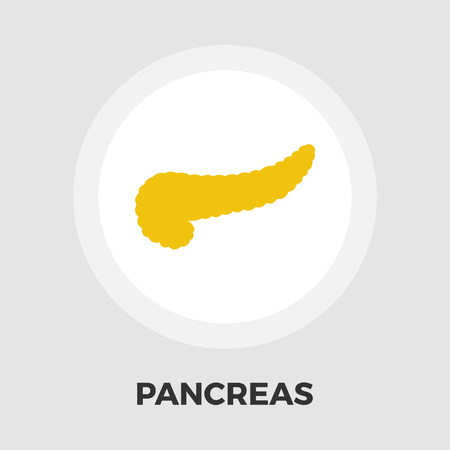 trzustka: Pancreas icon vector. Flat icon isolated on the white background. Editable EPS file. Vector illustration. Ilustracja