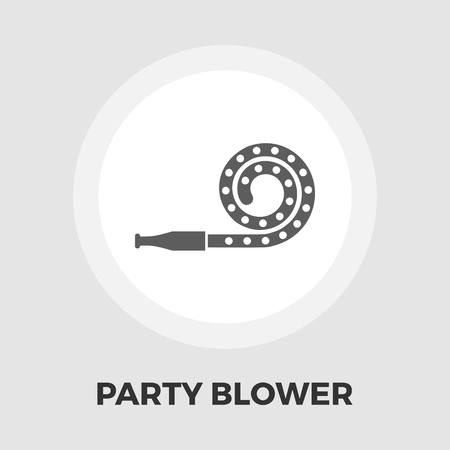 eps vector icon: Party blower icon vector. Flat icon isolated on the white background. Editable EPS file. Vector illustration.