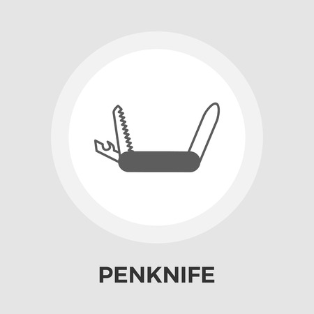 penknife: Knife icon vector. Flat icon isolated on the white background. Editable EPS file. Vector illustration.