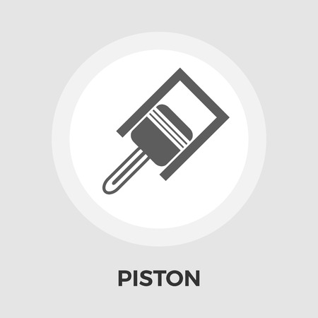 engine pistons: Piston. icon vector. Flat icon isolated on the white background. Editable EPS file. Vector illustration.