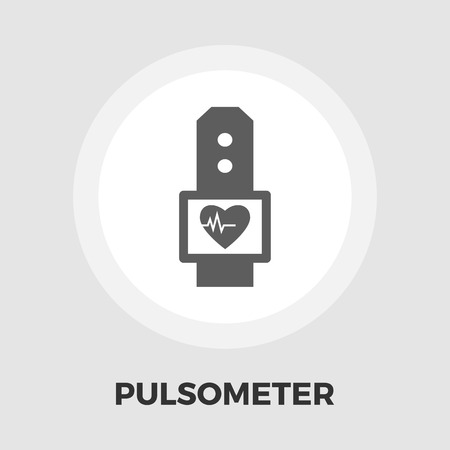 tonograph: Pulsometer icon vector. Flat icon isolated on the white background. Editable EPS file. Vector illustration.
