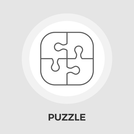 medium group of people: Puzzle icon vector. Flat icon isolated on the white background. Editable EPS file. Vector illustration.