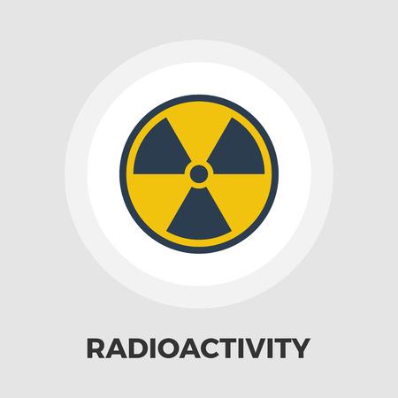 radiactividad: La radiactividad del vector icono. icono de pantalla plana conjunto aislado en el fondo blanco. archivo EPS editable. Ilustraci�n del vector. Vectores