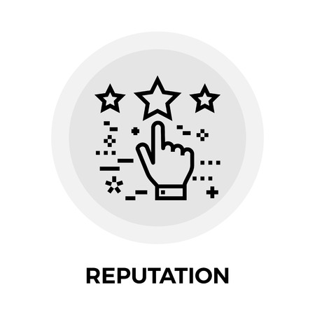 reputation: Reputation icon vector. Flat icon isolated on the white background. Editable EPS file. Vector illustration.