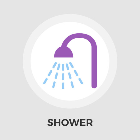 rinse: Shower icon vector. Flat icon isolated on the white background. Editable EPS file. Vector illustration. Illustration