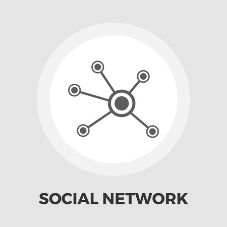 networking people: Social network icon vector. Flat icon isolated on the white background. Editable EPS file. Vector illustration.