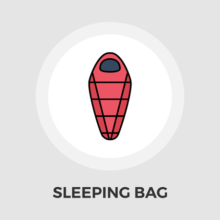 sleeping bags: Sleeping bag icon vector. Flat icon isolated on the white background. Editable EPS file. Vector illustration.