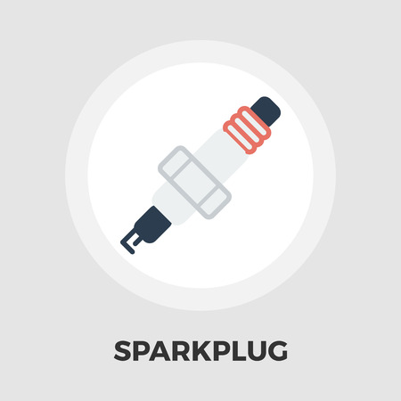 catalyst: Sparkplug icon vector. Flat icon isolated on the white background. Editable EPS file. Vector illustration.