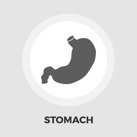 emaciated: Stomach icon vector. Flat icon isolated on the white background. Editable EPS file. Vector illustration.