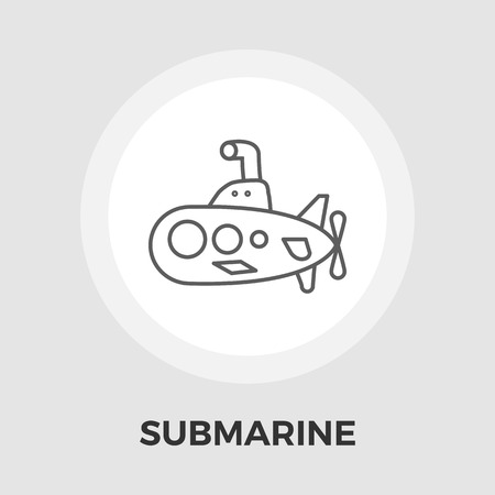 eps vector icon: Submarine icon vector. Flat icon isolated on the white background. Editable EPS file. Vector illustration.