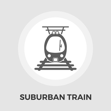 electric train: Suburban electric train icon vector. Flat icon isolated on the white background. Editable EPS file. Vector illustration.