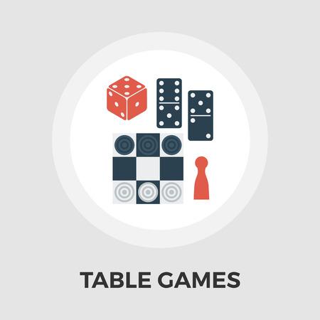 テーブル ゲームのアイコン ベクトル。フラット アイコン白背景に分離されました。編集可能な EPS ファイル。ベクトルの図。