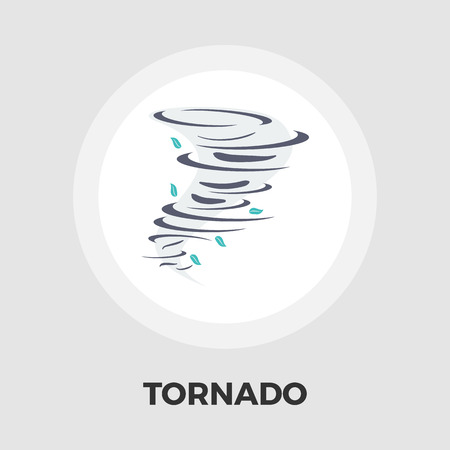 windstorm: Tornado icon vector. Flat icon isolated on the white background. Editable EPS file. Vector illustration.
