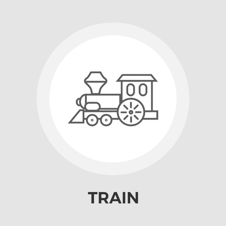 high speed railway: Train Icon Vector. Flat icon isolated on the white background. Editable EPS file. Vector illustration. Illustration