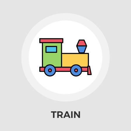 high way: Train Icon Vector. Flat icon isolated on the white background. Editable EPS file. Vector illustration. Illustration