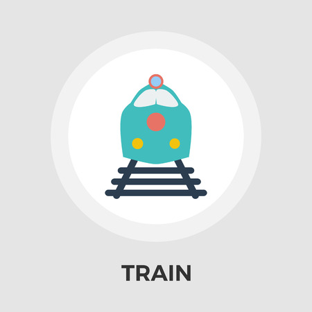 high speed rail: Train Icon Vector. Flat icon isolated on the white background. Editable EPS file. Vector illustration. Illustration