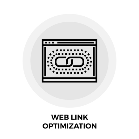 chainlink: Web Link Optimization icon vector. Flat icon isolated on the white background. Editable EPS file. Vector illustration. Illustration