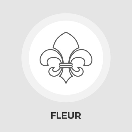 orleans symbol: Fleur icon vector. Flat icon isolated on the white background. Editable EPS file. Vector illustration.