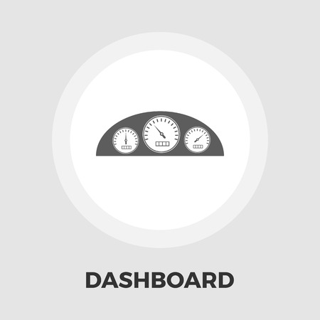 km: Dashboard icon vector. Flat icon isolated on the white background. Editable EPS file. Vector illustration.