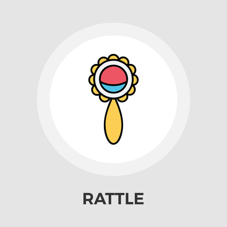 picutre: Rattle Icon Vector. Flat icon isolated on the white background. Editable EPS file. Vector illustration.