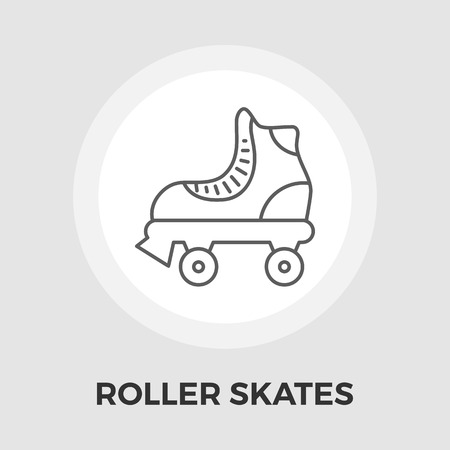 rollerskate: Roller skate icon vector. Flat icon isolated on the white background. Editable EPS file. Vector illustration. Illustration
