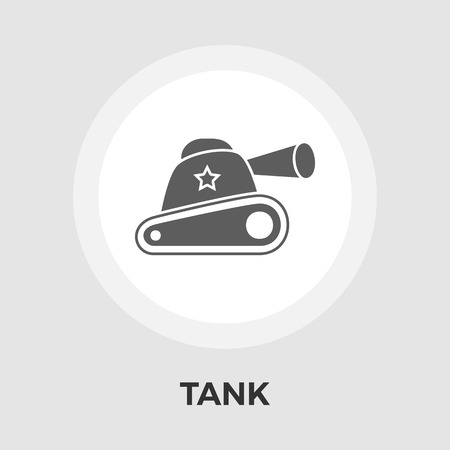 eps vector icon: Tank toy icon vector. Flat icon isolated on the white background. Editable EPS file. Vector illustration.