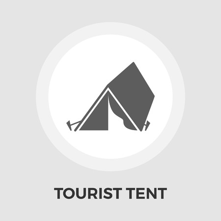 tent vector: Tourist Tent Icon Vector. Flat icon isolated on the white background. Editable EPS file. Vector illustration. Illustration