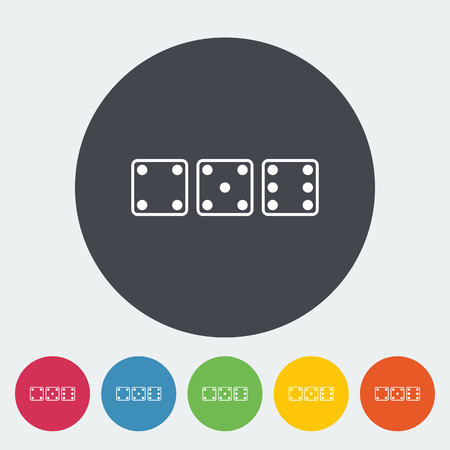 opportunity sign: Craps. Single flat icon on the circle button. Vector illustration.