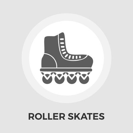 rollerskate: Roller skate icon vector. Flat icon isolated on the white background. Editable EPS file. Vector illustration. Illustration