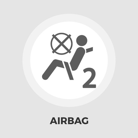 airbag: Airbag icon vector. Flat icon isolated on the white background. Editable EPS file. Vector illustration. Illustration