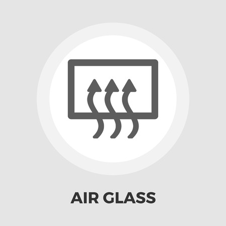 defrost: Rear window defrost icon vector. Flat icon isolated on the white background. Editable EPS file. Vector illustration.