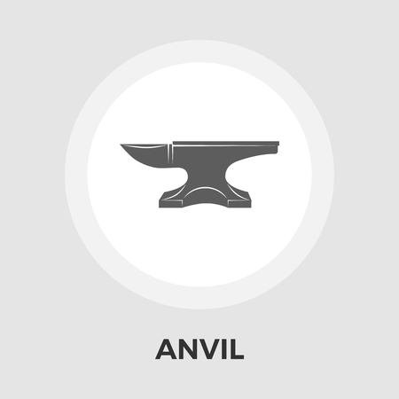 anvil: Anvil Icon Vector. Flat icon isolated on the white background. Editable EPS file. Vector illustration.