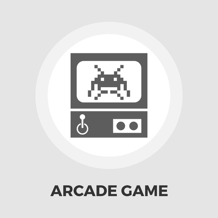 arcade: Retro Arcade Machine icon vector. Flat icon isolated on the white background. Editable EPS file. Vector illustration.
