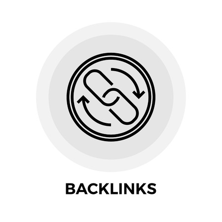 interconnection: Backlinks Icon Vector. Flat icon isolated on the white background. Editable EPS file. Vector illustration.