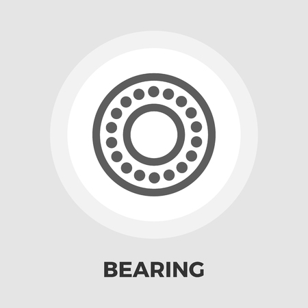 bearing: Bearing icon vector. Flat icon isolated on the white background. Editable EPS file. Vector illustration. Illustration