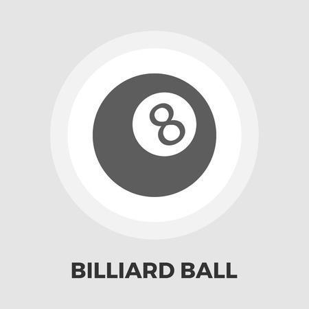 billiard ball: Billiard ball icon vector. Flat icon isolated on the white background. Editable EPS file. Vector illustration.