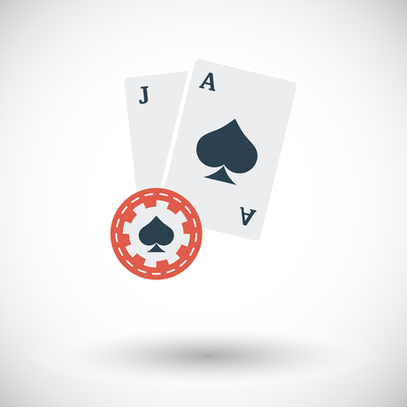 blackjack: Blackjack icon. Flat vector related icon for web and mobile applications. It can be used as -  pictogram, icon, infographic element. Vector Illustration.