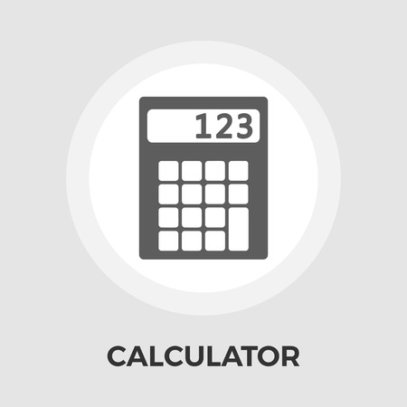 Calculator icon vector. Flat icon isolated on the white background. Editable EPS file. Vector illustration.
