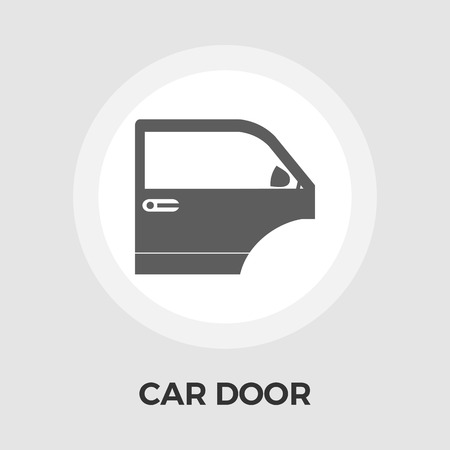 bodywork: Car door icon vector. Flat icon isolated on the white background. Editable EPS file. Vector illustration.