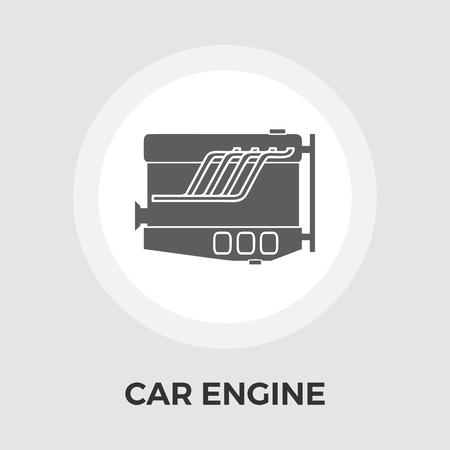 vehicle breakdown: Engine icon vector. Flat icon isolated on the white background. Editable EPS file. Vector illustration. Illustration